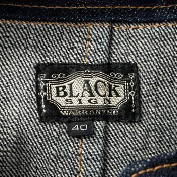 бирка Пиджак  Black Sign