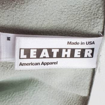 бирка Кожаная юбка American Apparel