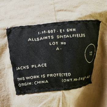 бирка Кожаная куртка All Saints Spitalfields