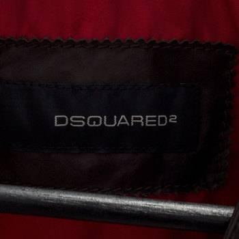 бирка Кожаный жилет  Dsquared2