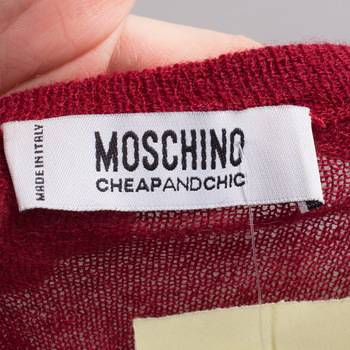 бирка Джемпер  Moschino Cheap and Chic