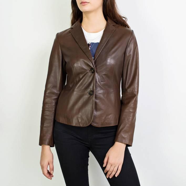 Кожаный пиджак  Weekend Max Mara