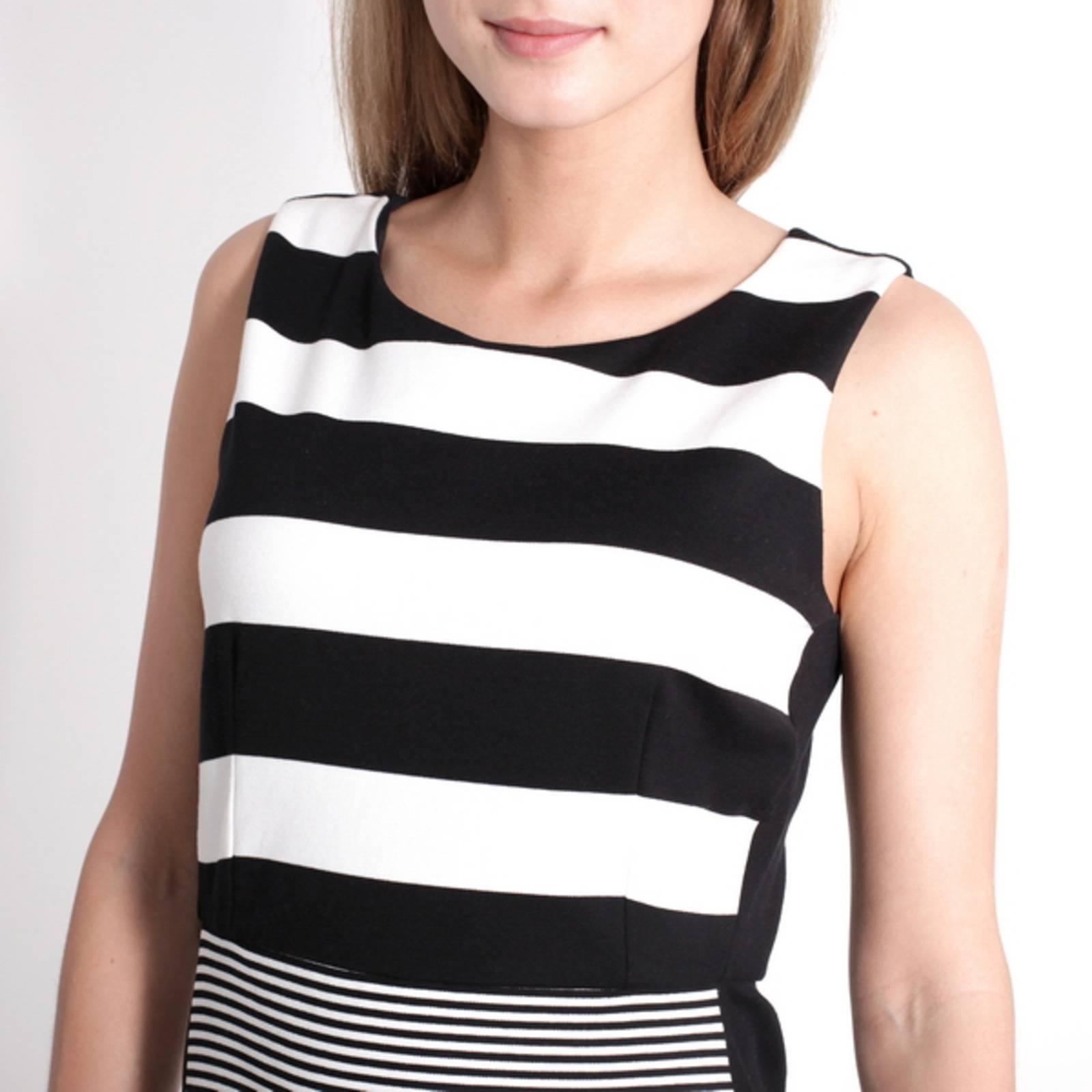 Купить Max Mara черное платье из шелка с узором горох