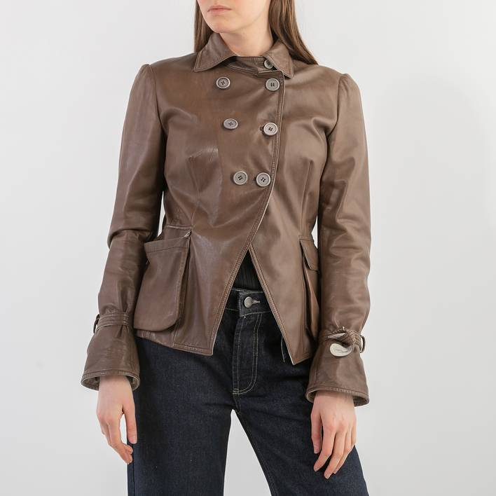Кожаная куртка Brunello Cucinelli