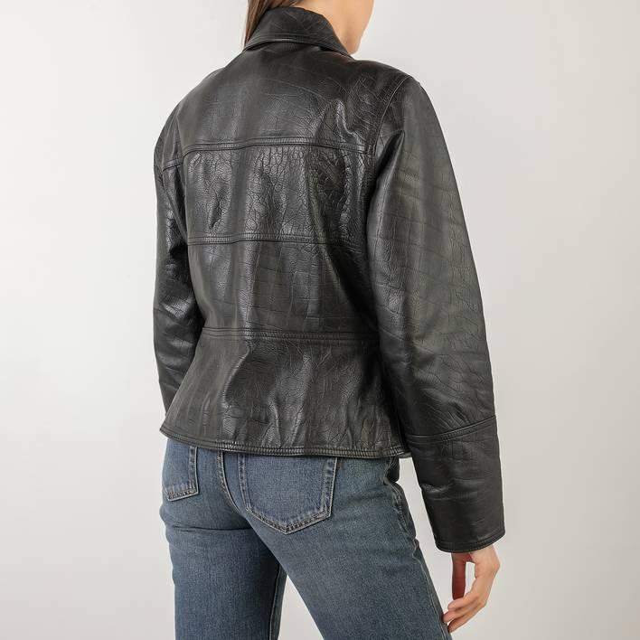 Кожаная куртка Versace Jeans Couture