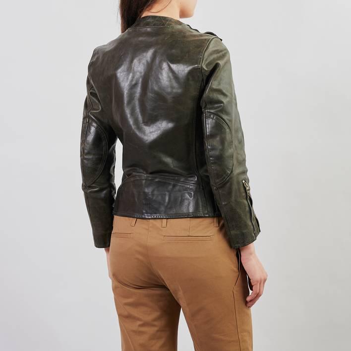 Кожаная куртка Golden Goose