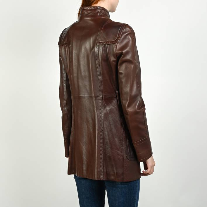 Кожаное пальто Gucci