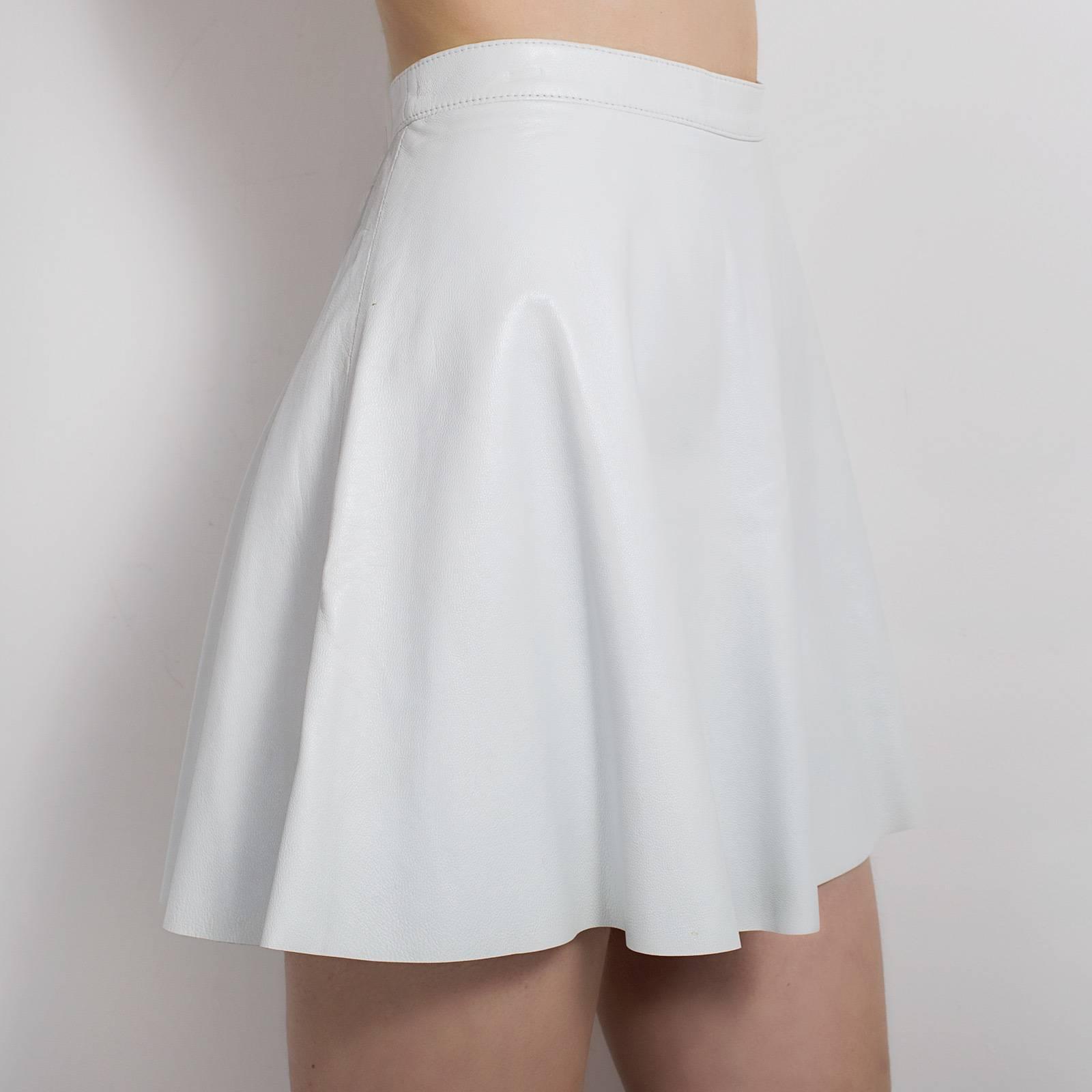 Кожаная юбка American Apparel