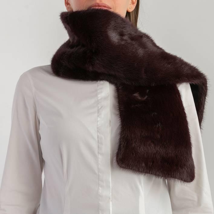 Меховой шарф Gucci