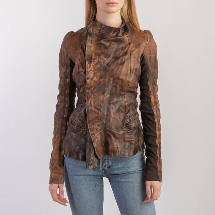 Кожаная куртка Rick Owens