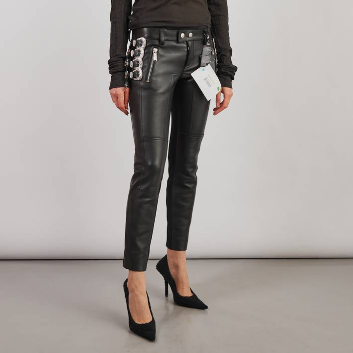 Кожаные брюки Dsquared2