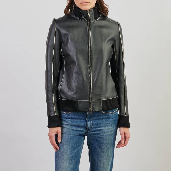 Кожаная куртка Maison Margiela
