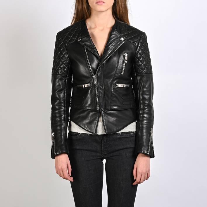 Кожаная куртка  Balenciaga