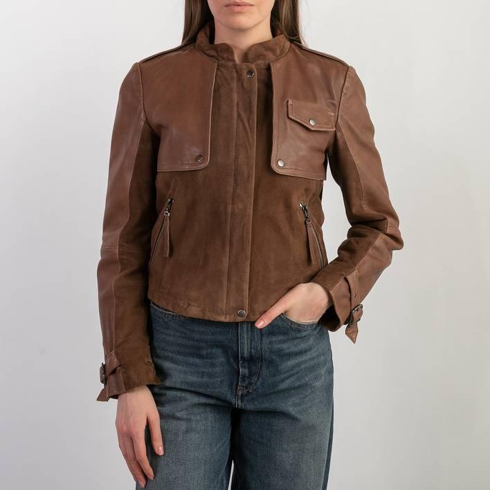 Кожаная куртка Sportmax Code