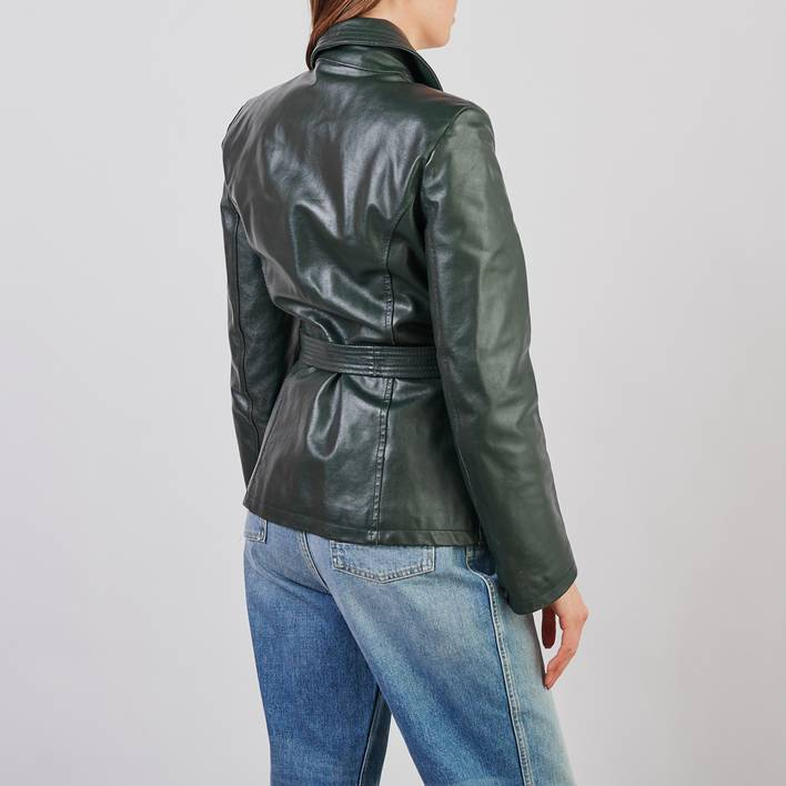 Кожаная куртка Max&Co