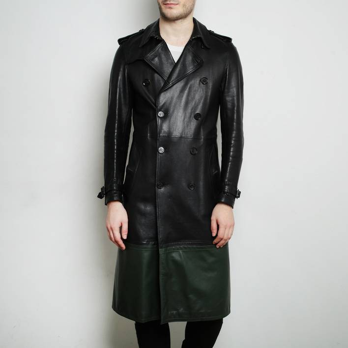 Кожаное пальто  Burberry