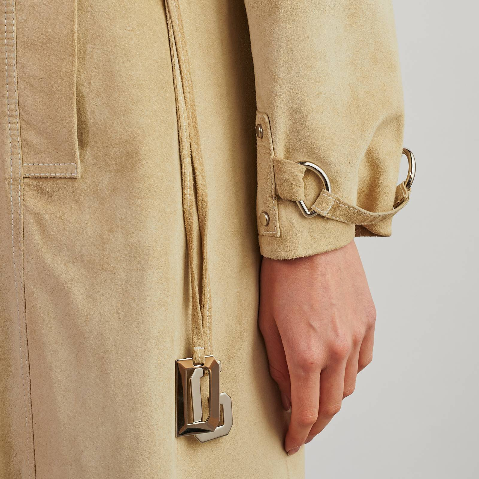 Кожаный плащ Dolce & Gabbana