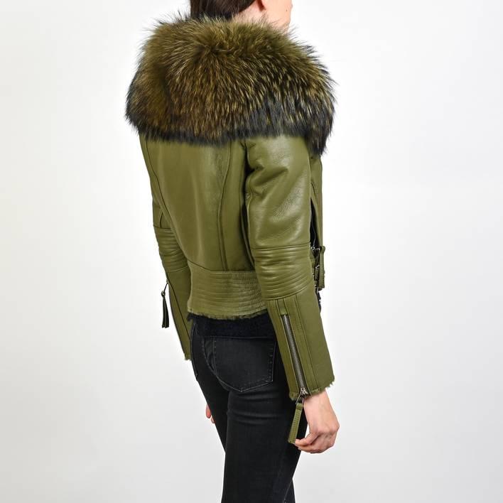 Кожаная куртка  Fendi