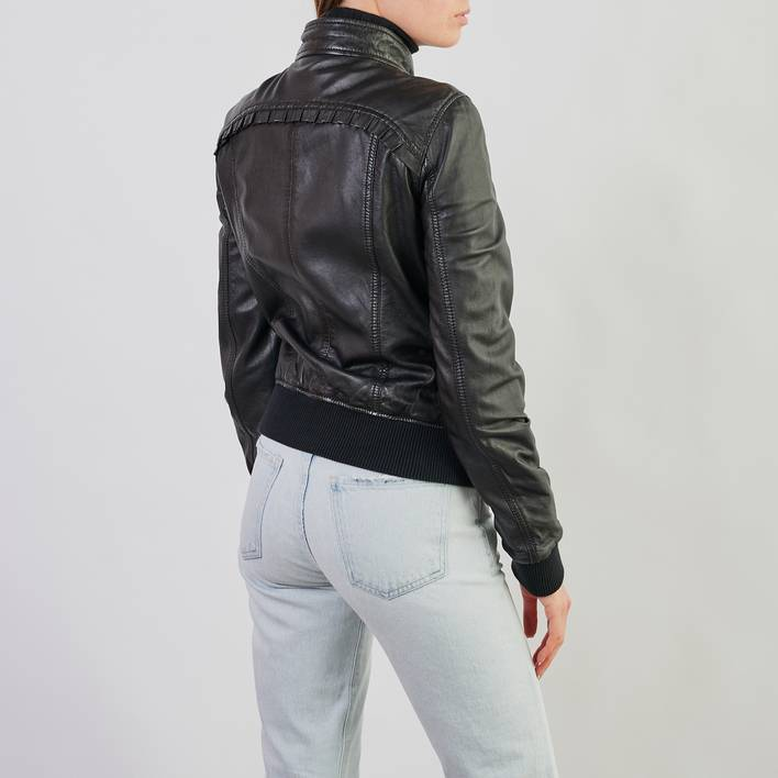 Кожаная куртка D&G