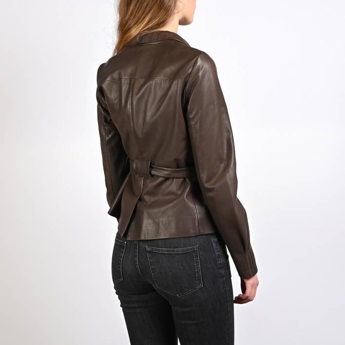 Кожаный пиджак Miu Miu
